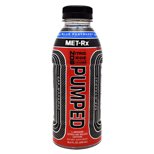Met-Rx USA NOS PUMPED - Blue Raspberry - 12 Bottles - 10786560579299