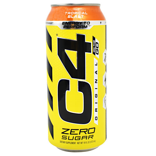 Cellucor Original C4 On the Go - Sparkling Tropical Blast - 12 Cans - 842595106541