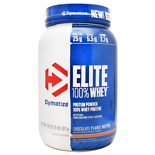 Dymatize Elite 100% Whey - Chocolate Peanut Butter - 2 lb - 705016599271