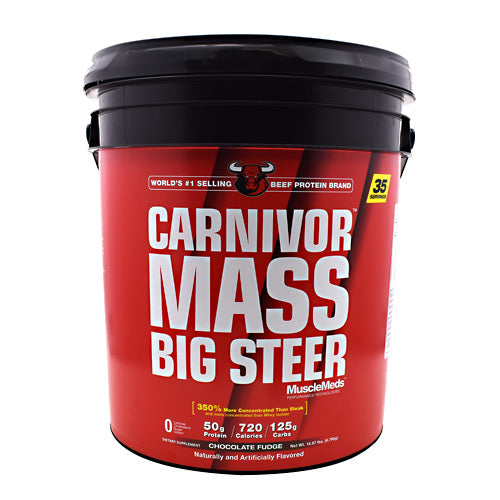Muscle Meds Carnivor Mass Big Steer - Chocolate Fudge - 14.97 lb - 891597005246