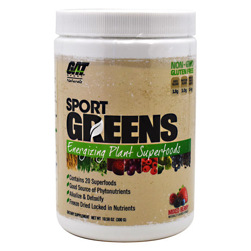 GAT Naturals Sport Greens - Mixed Berry - 30 Servings - 816170021444