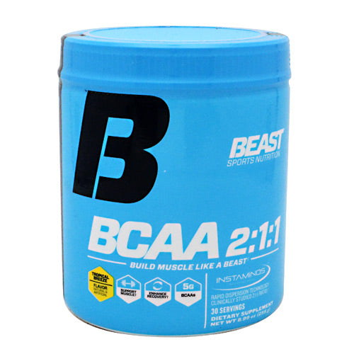 Beast Sports Nutrition BCAA 2:1:1 - Tropical Breeze - 30 Servings - 631312805412