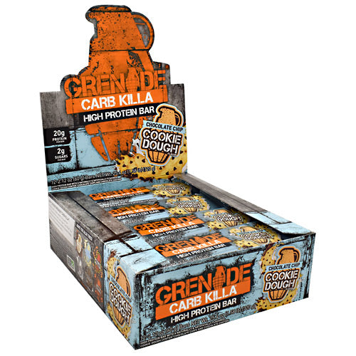Grenade Carb Killa - Chocolate Chip Cookie Dough - 12 Bars - 847534003349