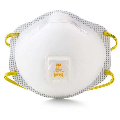 3M 8211 N95 Respirator Mask - 10 pack