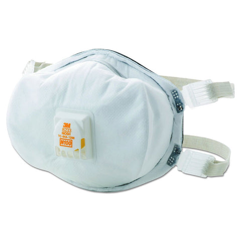 3M 8233 N100 Respirator Mask - 1 pack
