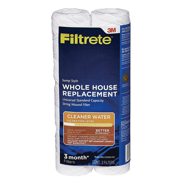 3M Filtrete 3WH-STDSW-F02 String Wound Replacement Filter 2pk
