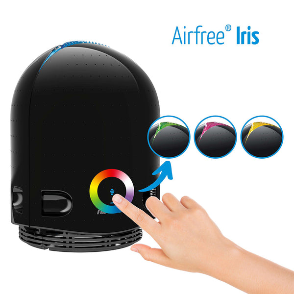 Airfree Iris 3000 Filterless Air Purifier Color Changing Night Iallergy