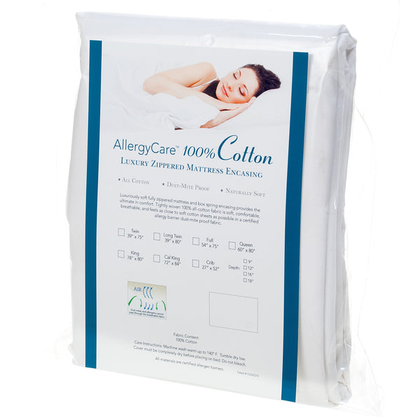 100% Cotton Dust Mite & Allergy Mattress Encasing