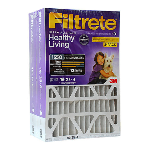 Filtrete 16x25x4 Ultra Allergen Filter for Honeywell, Trion - 2 PACK