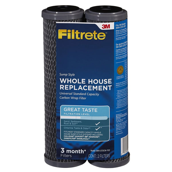 3M Filtrete 3WH-STDCW-F02 Carbon Wrap Replacement Filter 2pk