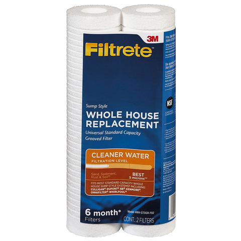 3M Filtrete 4WH-STDGR-F02 Grooved Replacement Filter 2pk