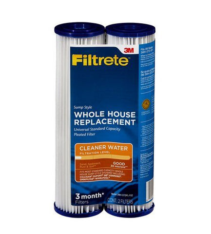 3M Filtrete 3WH-STDPL-F02 Pleated Replacement Filter 2pk