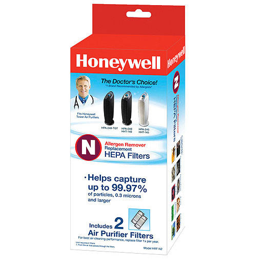 Genuine Honeywell HRF-N2 True HEPA Replacement Filter 2pk (Filter N)