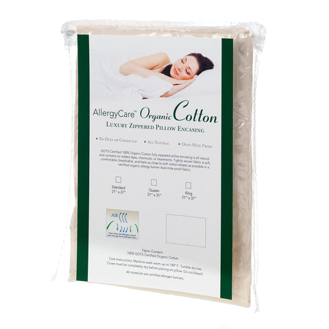 Organic 100% Cotton Dust Mite Pillow Encasing