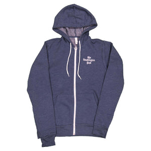 Washington Post logo hoodie in navy blue