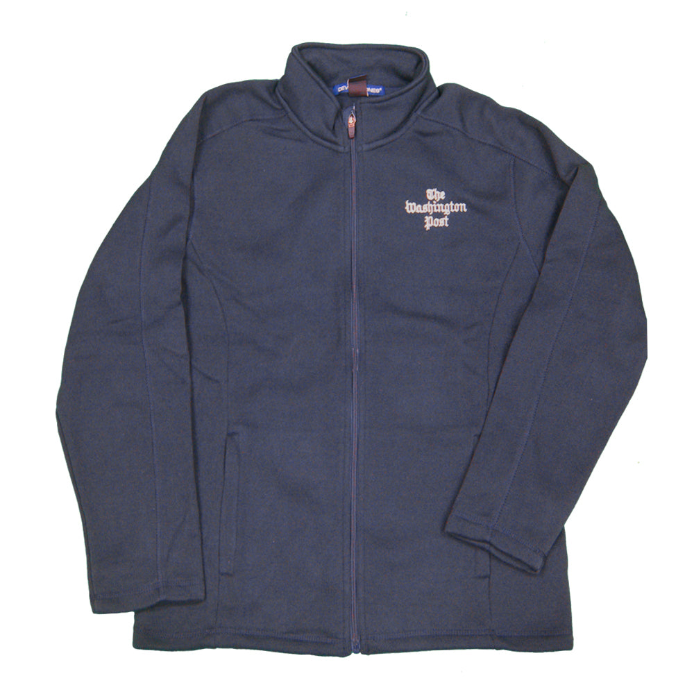 Washington Post men's fleece jacket in navy