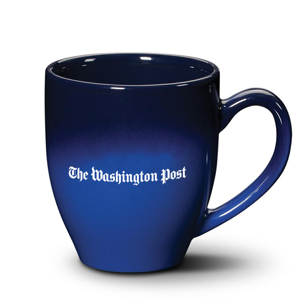 The Washington Post coffee mug in blue