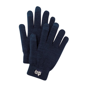 Washington Post (WP) logo touchscreen gloves in navy