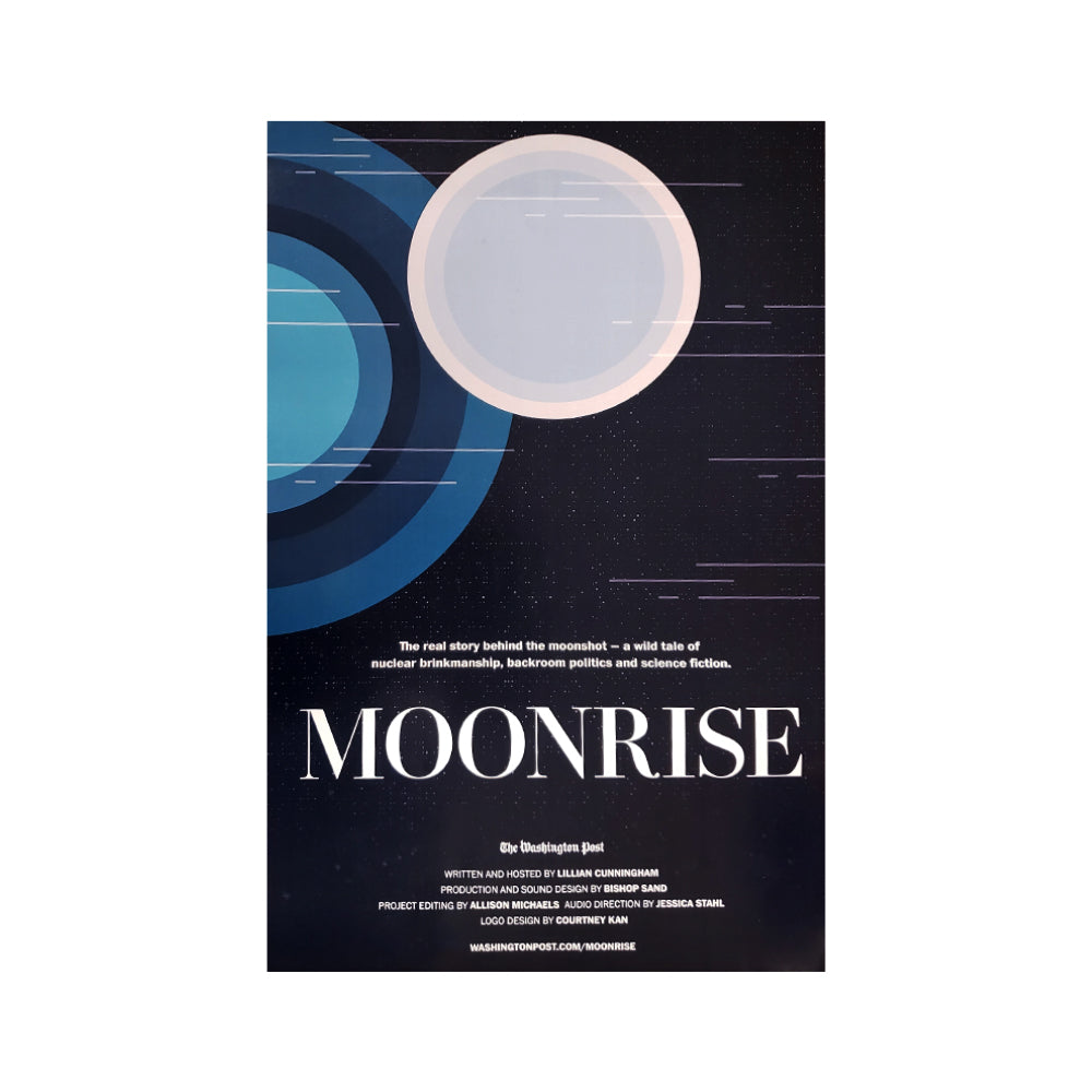 Washington Post Moonrise podcast promotional poster