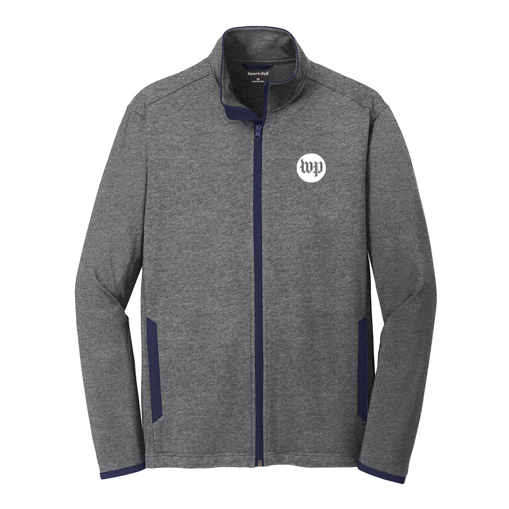 Charcoal workout jersey jacket with WP logo