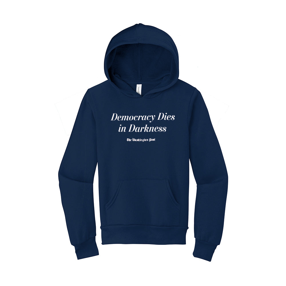 Youth 'Democracy Dies in Darkness' Hoodie