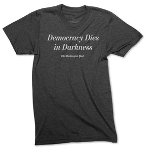 Official Democracy Dies in Darkness T-shirt (grey)