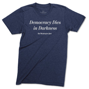 Official Democracy Dies in Darkness T-shirt (navy)
