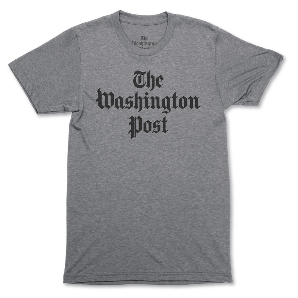 The Washington Post Logo T-shirt in grey