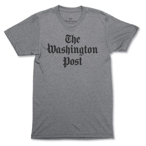 'Democracy Dies in Darkness' Washington Post T-shirt (charcoal)