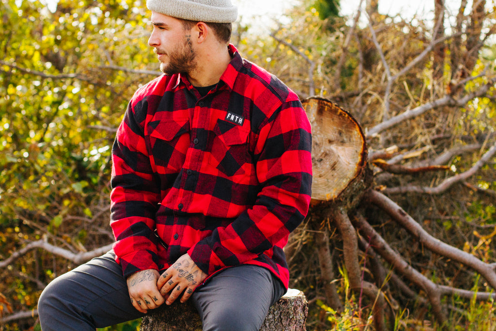 2019 fall collection-flannel black and red