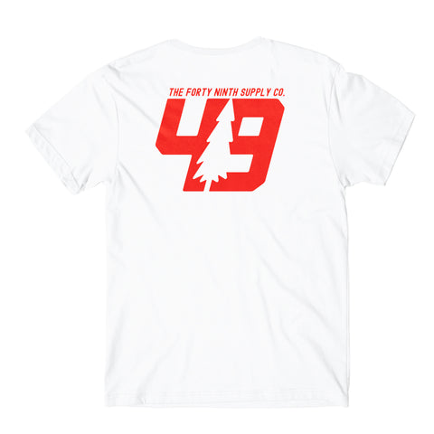 49th Tree Logo White T-Shirt