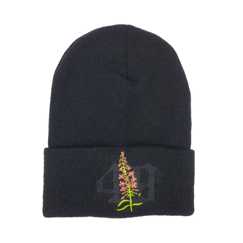 49TH Fireweed Black Beanie