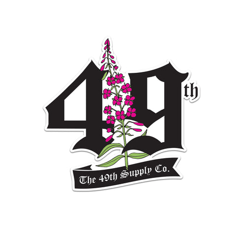 49th Fireweed Sticker