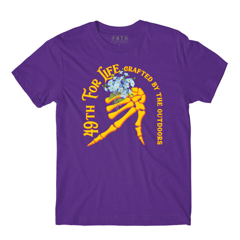 49Th For Life Purple T-Shirt