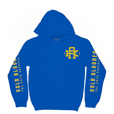 Gold Blooded Royal Blue Hoodie