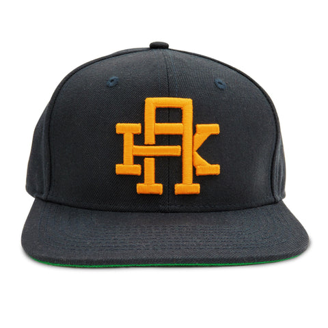 AK Gold Navy Snapback Hat