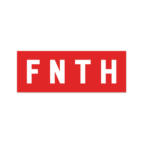 FNTH Bar Logo Red Sticker