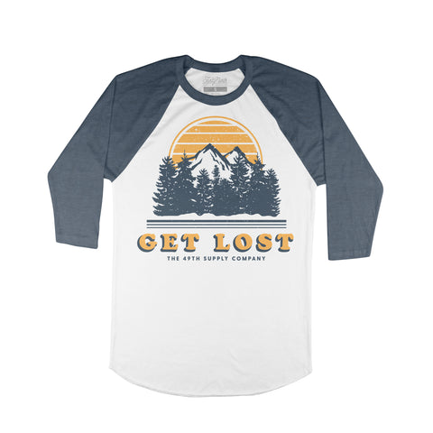 The Get Lost Blue Raglan-Women