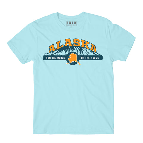 Alaska Woods To Hoods Powder Blue T-Shirt