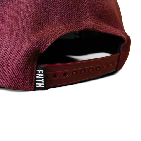 The Bishop Snapback Burgundy