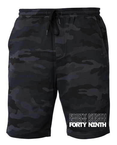 Forty Ninth Black Camo Shorts