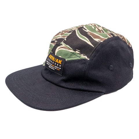 Sun Comes Up Tiger Camo 5 Panel Strapback Hat