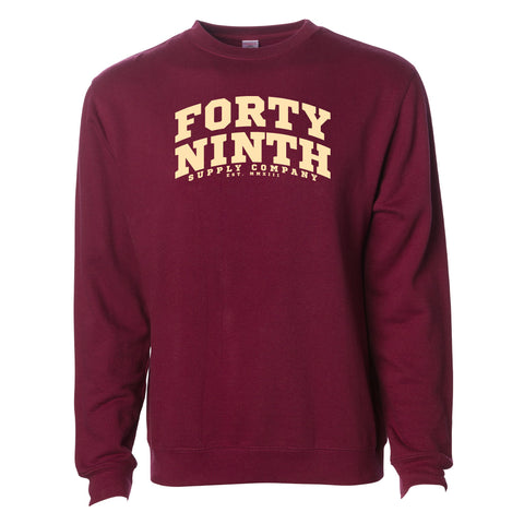 Forty Ninth Maroon Crew Neck