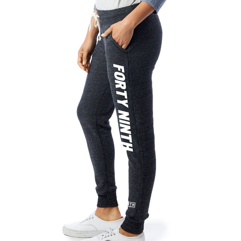 Women's Forty Ninth Black Fleece Jogger