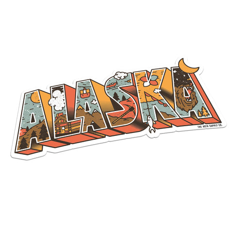 Greeting From Alaska Sticker