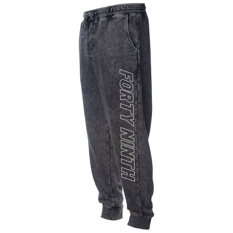 Forty Ninth Laser Mineral Wash Jogger