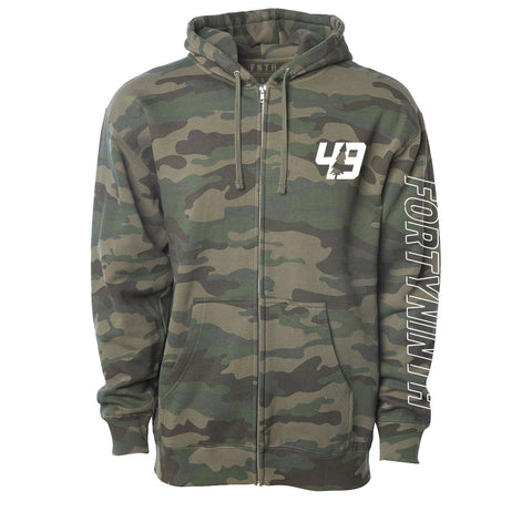 Forty Ninth Laser Green Camo Zip Hoodie