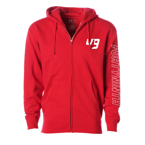 Forty Ninth Laser Red Zip Hoodie