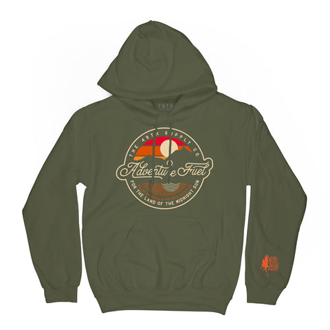 Kaladi Adventure Fuel Army Green Hoodie
