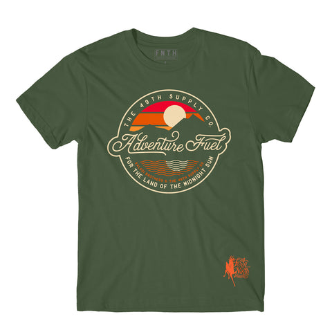 Kaladi Adventure Fuel Army Green T-Shirt